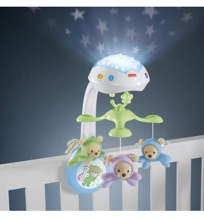 FISHER PRICE BUTTERFLY DREAMS 3-IN-1 KARUSELĖ