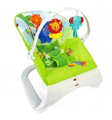 FISHER PRICE RAINFOREST FRIENDS COMFORT CURVE VIBRUOJANTI KĖDUTĖ-GULTUKAS