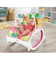 FISHER PRICE INFANT-TO-TODDLER VIBRUOJANTI KĖDUTĖ-GULTUKAS, PINK