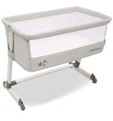 ASALVO BED SIDE CRIB LOPŠIUKAS, LIGHT GREY
